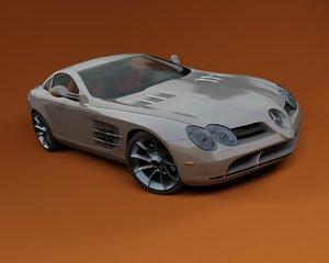 mclaren slr-vray mercedes slr 3d model